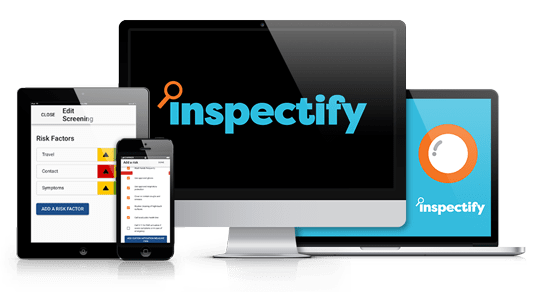 Inspectify screens mockup