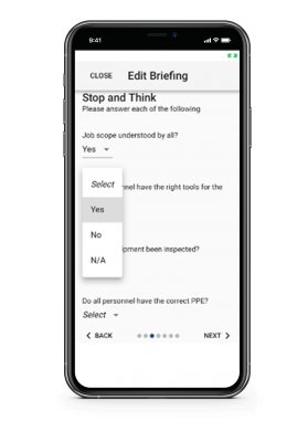 Edit Briefing app screenshot