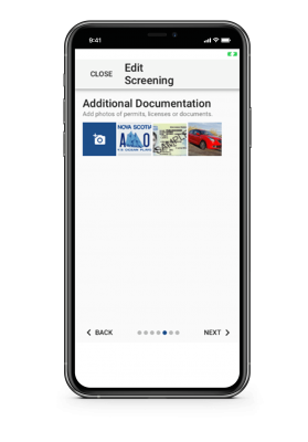 Edit Screening app screenshot